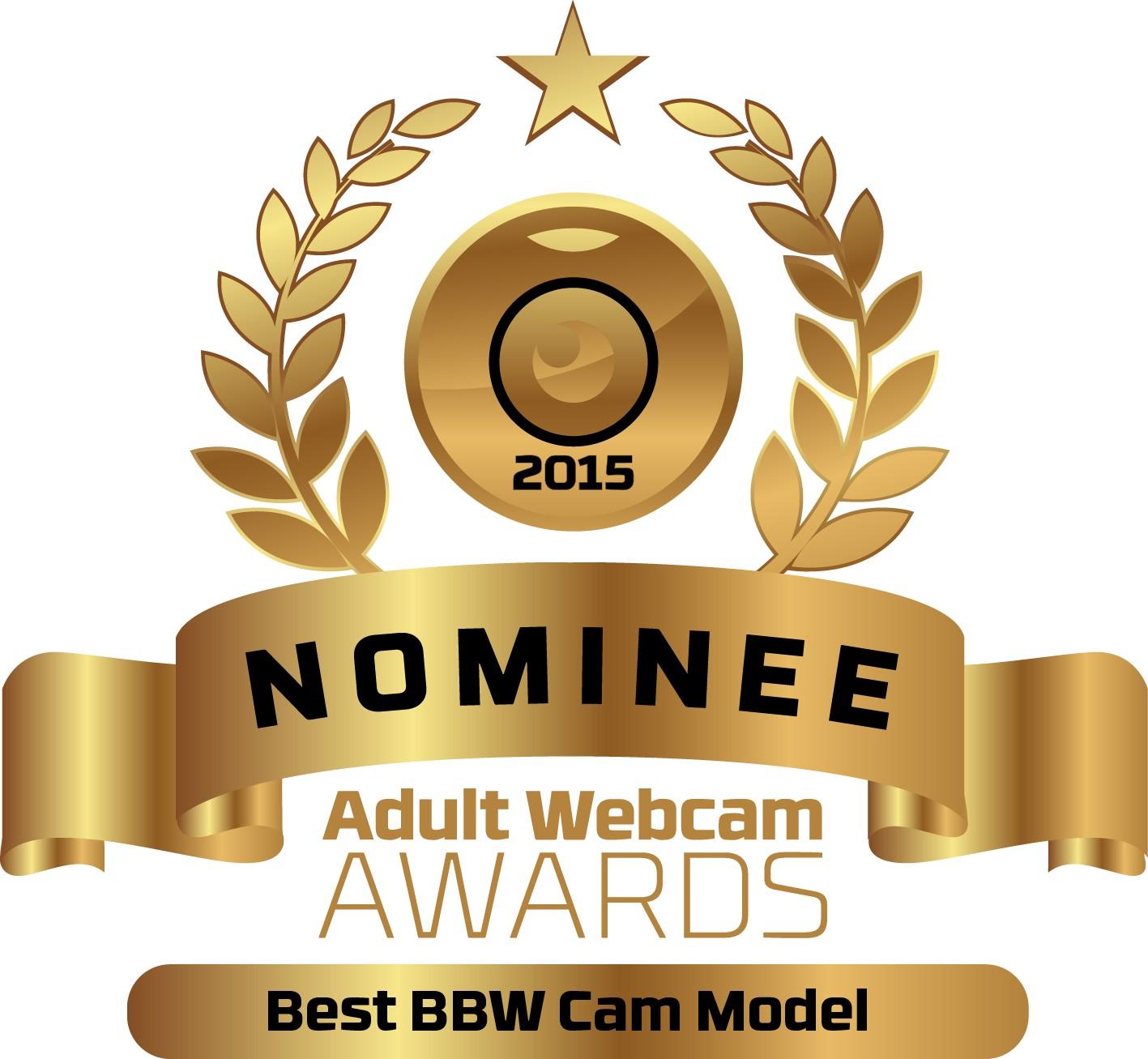 Best BBW Live Cam Model Nominee Badge for the Adult Webcam Awards