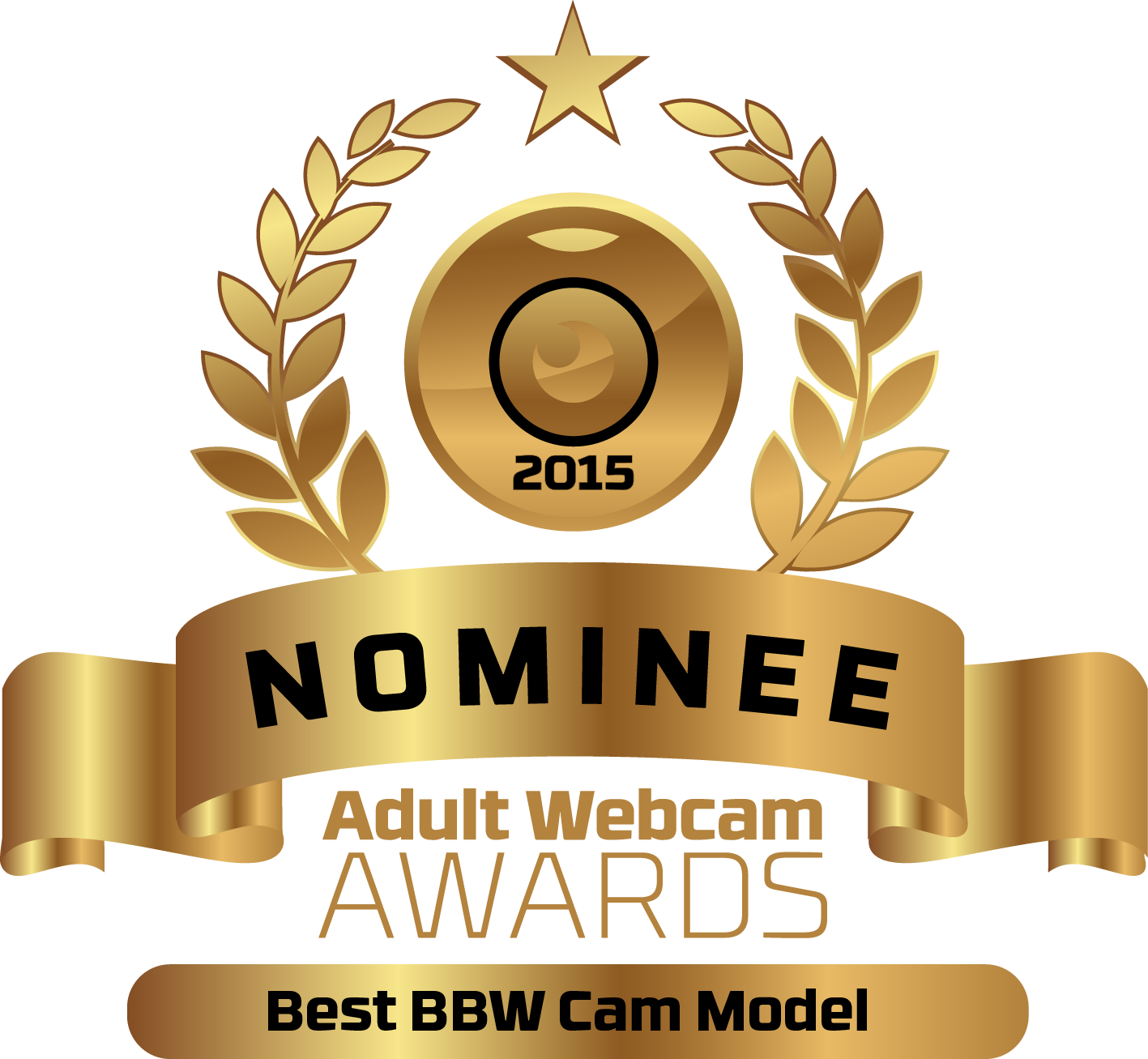 Best BBW Live Cam Model Nominee Badge for the Adult Webcam Awards