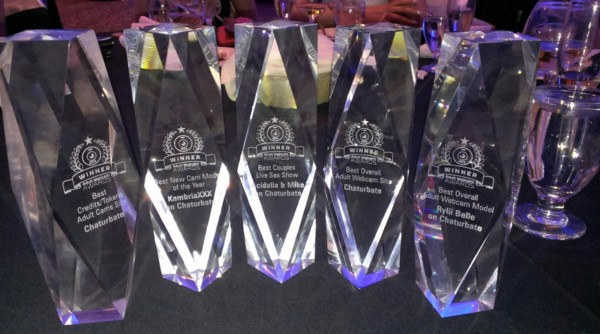 Chaturbate took home the most awards with wins in 7 categories.