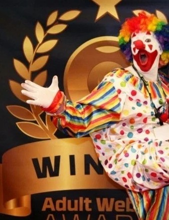 Pervy the Clown Nominee in the 2016 Adult Webcam Awards